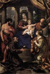 Pietro Berrettini Madonna z dzieciątkiem i Święci